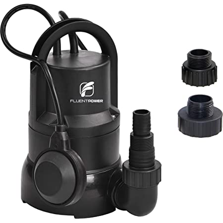 FLUENT POWER 3//4 HP Submersible Water Pump with Full Stainless Casing