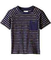 Lucky Brand Kids - Space Dye Striped Tee w/ Front Pocket (Toddler)