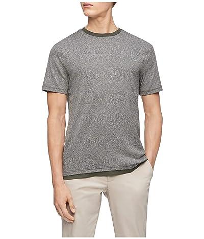 Calvin Klein Short Sleeve Liquid Touch Dobby Casual T-Shirt (Forest Night) Men