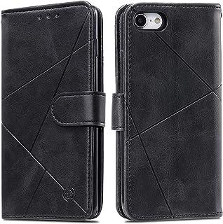 Lodroc LOHH0600017 Telefoonhoes voor iPhone 8/7/iPhone SE 2020, TPU lederen hoes, magnetische beschermhoes [kaartenvak] [s...