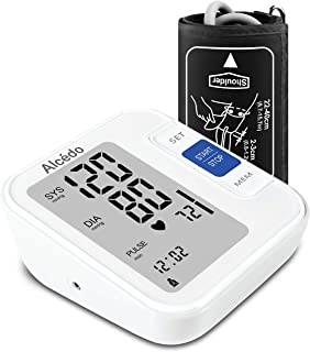 Blood Pressure Monitor Upper Arm by Alcedo| Automatic Digital BP Monitor with Wide-Range Cuff for Home Use | Large Screen, 2x120 Reading Memory, Talking Function | FDA Approved