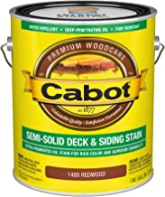 Cabot 140.0001480.007 Semi-Solid Deck & Siding Stain, Gallon, Redwood