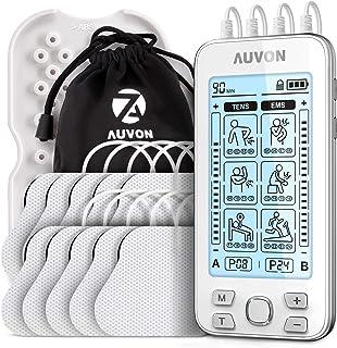 AUVON 4 Kanäle TENS Gerät EMS Trainingsgerät für Schmerzlinderung Therapie mit 24..