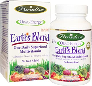 Paradise Herbs Orac-Energy Multi without Iron - 60 vcaps - pack of - 1