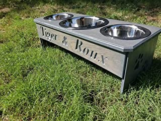3 Bowl dog bowl stand