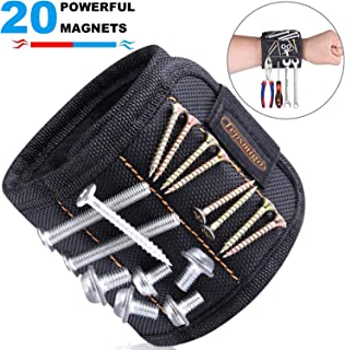 TEPSMIGO Magnetic Tool Wristband, with 20 Strong Magnets for Holding Screws, Nails, Drill, Bits, Birthday Gift for Men, Women, DIY Handyman, Carpenters, Father/Dad, Husband, Boyfriend