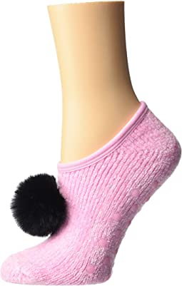 Chenille Slipper Socks w/ Pom