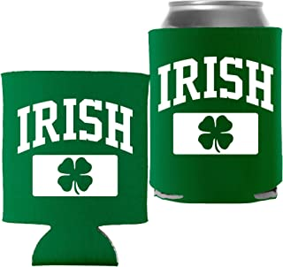 St Patricks Day Decoration Beer Can Cooler - Irish Athletic - Kelly - 1 Pc