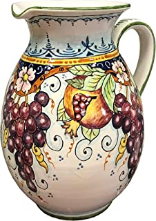 CERAMICHE D'ARTE PARRINI - Italian Ceramic Art Pottery Vase Jar Vessel Pitcher Vino Vine Hand Painted Made in ITALY Tuscan
