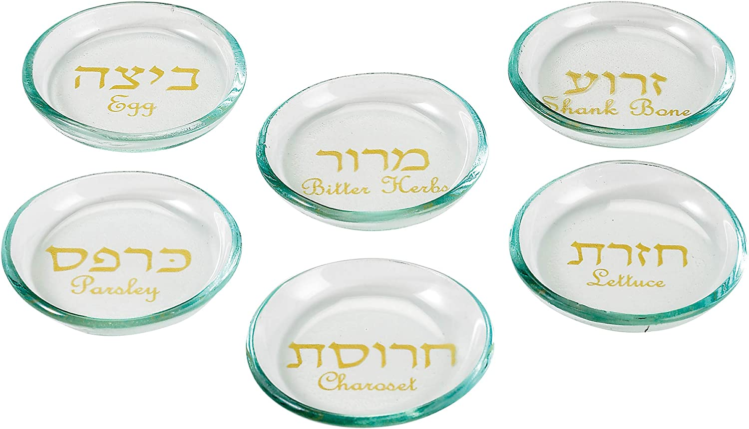 Ranking TOP14 Rite Lite Max 61% OFF Passover Round Glass Seder Plate D Liners - 6 of Set