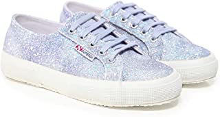 Superga Women's 2750 Tie Dye Micro Glitter Trainers Purple