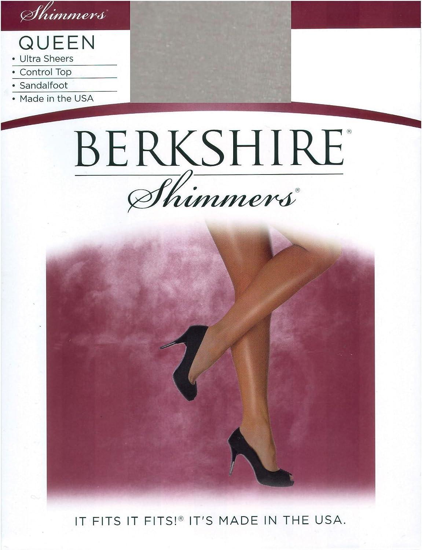 Berkshire Women's Plus-Size Queen Shimmers Ultra Sheer Control Top Pantyhose 4412
