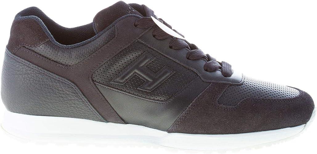 Hogan Uomo H321 Sneaker in Pelle e camoscio Blu con forature Color ...