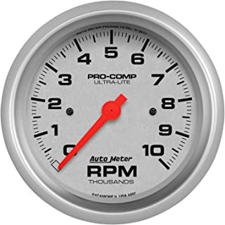 AutoMeter 7023-UL Ultra-Lite Dash Panel Kit 6 pc Tach/MPH/Fuel/OilP/WTMP/Volt 8K RPM/160 MPH/100 PSI 100-250 F/8-18V/0E-90F Ohms Ultra-Lite Dash Panel Kit