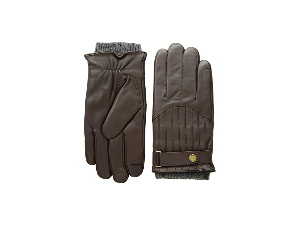 Polo Ralph Lauren Quilted Racing Gloves (Circuit Brown) Over-Mits Gloves