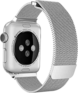 SKEIDO Milanese Loop for Apple Watch 40mm 38mm, Stainless Steel Alloy Replacement Watch Band for iWatch Series 4/3/2/1 (Si...