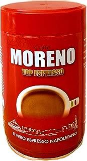 Coffee Ground Espresso Made in Italy Caffe Moreno Top Espresso 8.8 oz - 250 g. Il Vero Espresso Napoletano.
