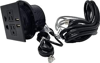 Desktop Conference Room Power Grommet Outlet, FITS 3 1/8
