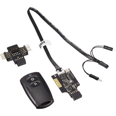 SilverStone 2.4GHzワイヤレス POWER/Resetリモートスイッチ 内部USB9ピンヘッダ接続 SST-ES02-USB