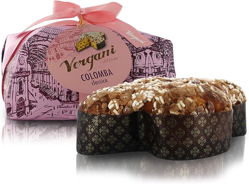 Vergani colomba classica, tradizionale dolce di pasqua, linea ``le antiche ricette``, 750 gr VECOCL000750GA00IT