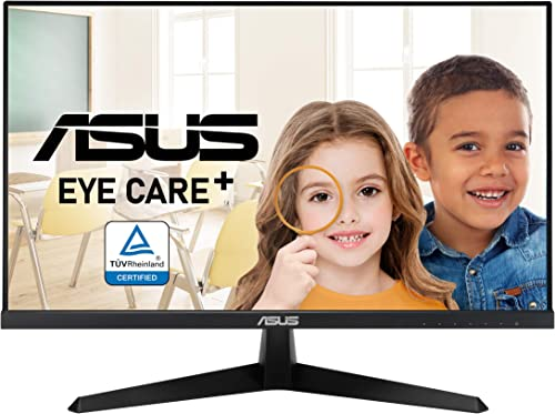 """ASUS VY249HE 23.8"""" Eye Care Monitor, 1080P Full HD, 75Hz, IPS, Adaptive-Sync/FreeSync, Eye Care Plus, Color Augmentat..."""