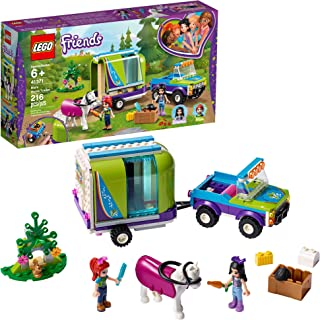 LEGO Friends Mia`s Horse Trailer 41371 Building Kit with Mia and Emma Mini Dolls Includes Toy Truck, Horse, and Rabbit for Creative Play (216 Pieces)