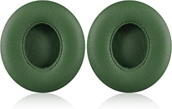 Solo 2/3 Wireless Earpads - JECOBB Replacement Ear Cushion Pads with Protein Leather and Memory Foam for Beats Solo 2.0/3.0 Wireless On Ear Headphones ONLY (Turf Green)