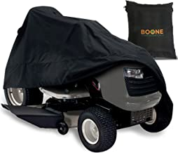 Boone Yard Essentials Riding Lawn Mower Cover - Heavy Duty, Durable, Water Resistant Cover for Your Ride-On Garden Tractor - Fits Up to 54