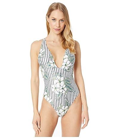 Volcom So Tropical One-Piece (White) Women