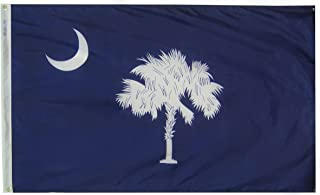 Annin Flagmakers Model 144860 South Carolina State Flag 3x5 ft. Nylon SolarGuard Nyl-Glo 100% Made in USA to Official State Design Specifications.
