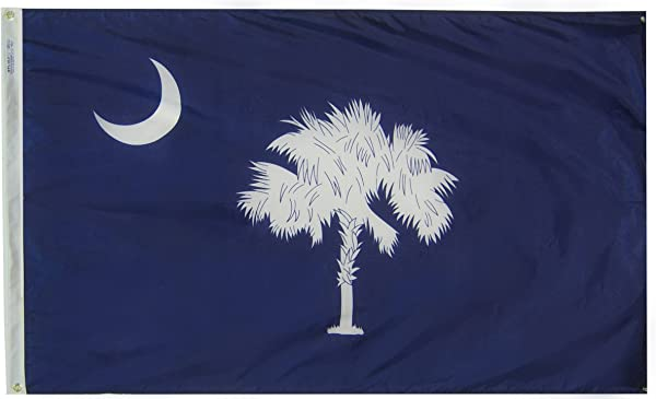 Annin Flagmakers Model 144860 South Carolina State Flag 3x5 Ft Nylon SolarGuard Nyl Glo 100 Made In USA To Official State Design Specifications
