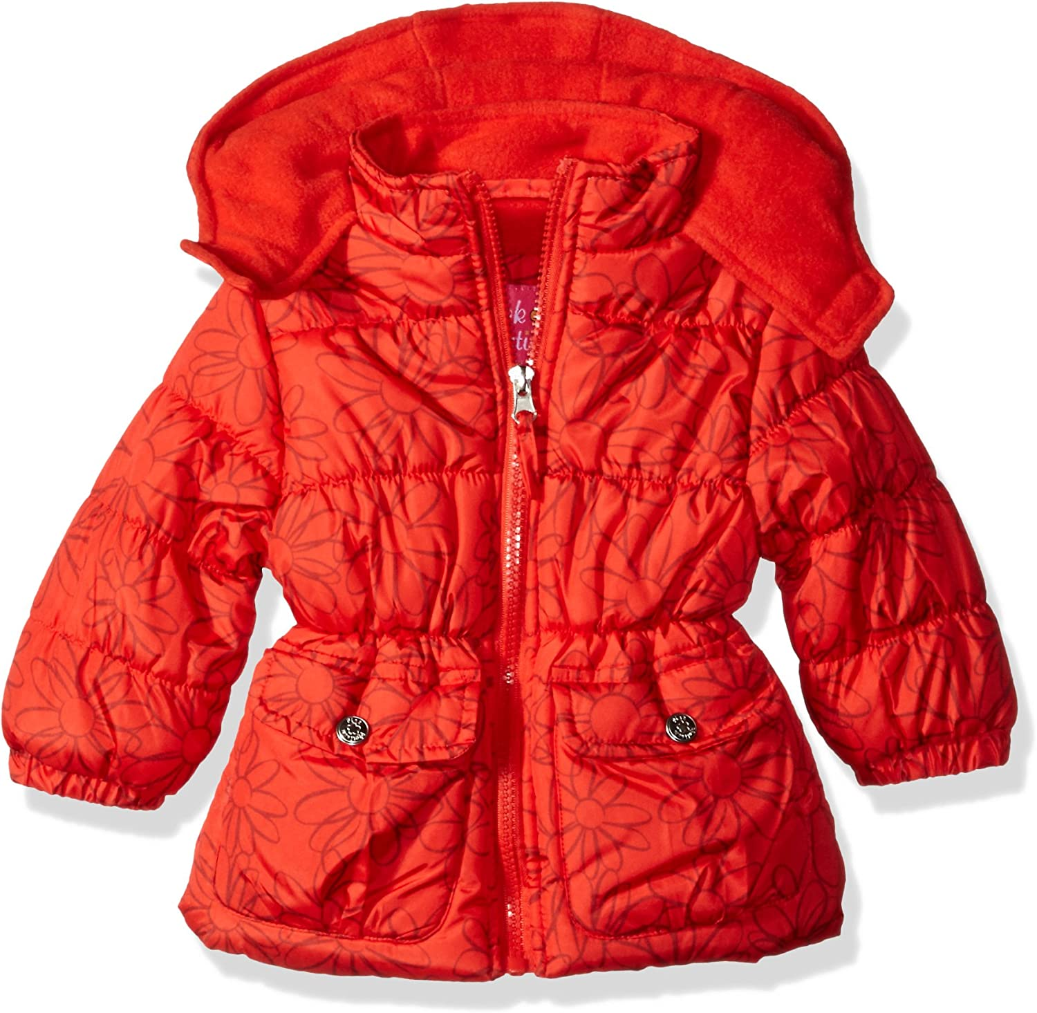 Pink Platinum Baby Girls' Infant Sales of SALE items from new works Regular discount Print Puffer Jacke Tonal Floral