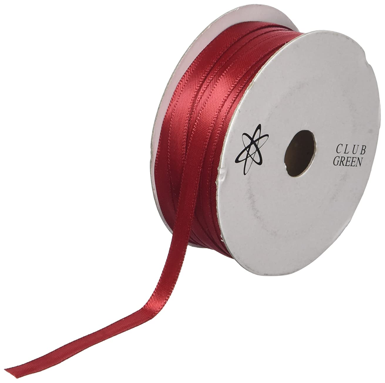 Club Green D/Satin Ribbon 6MMX25M Ruby, Fabric, 10 x 10 x 1 cm