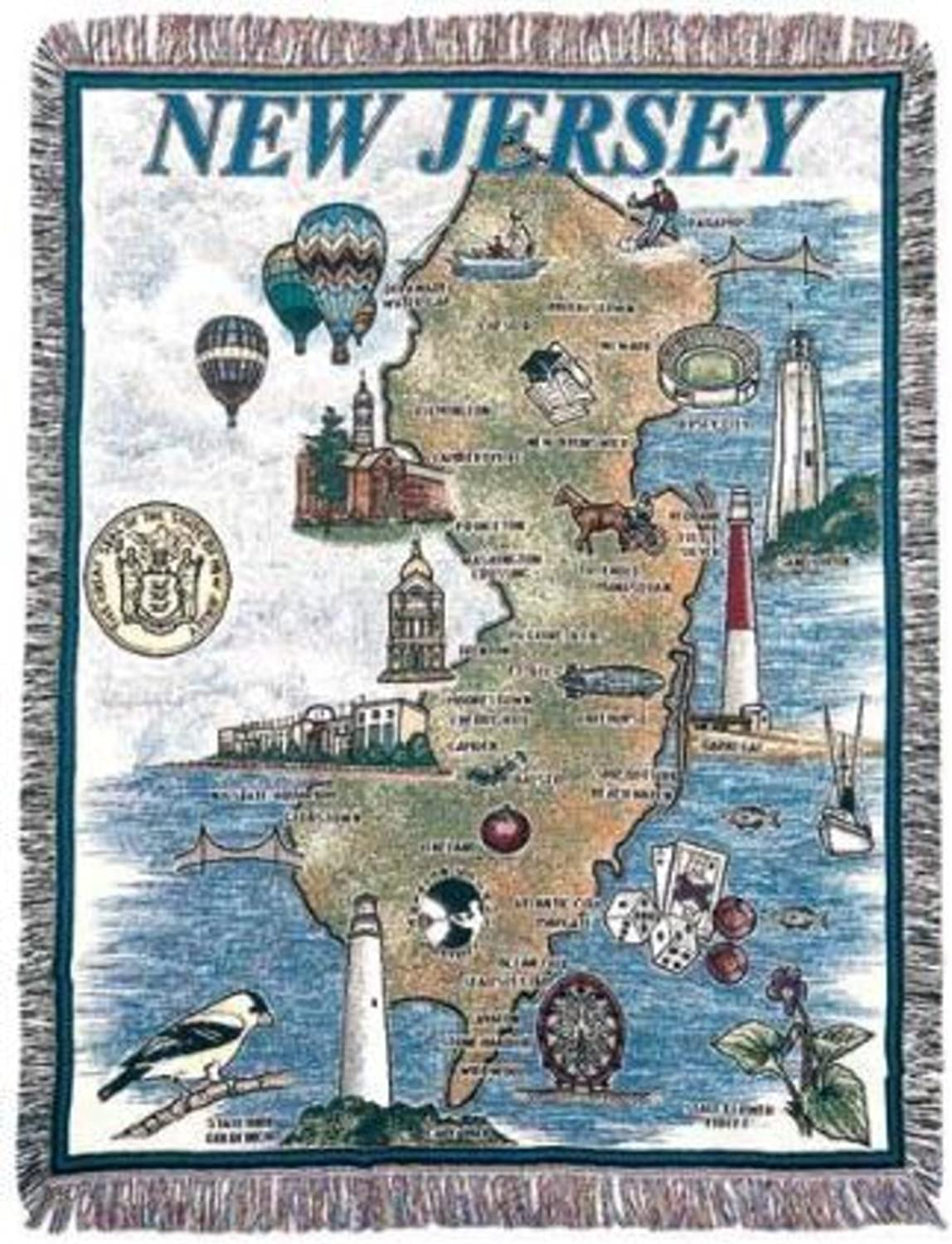 State of New Jersey Tapestry Throw Blanket 50  x 60  SKU RTP032592