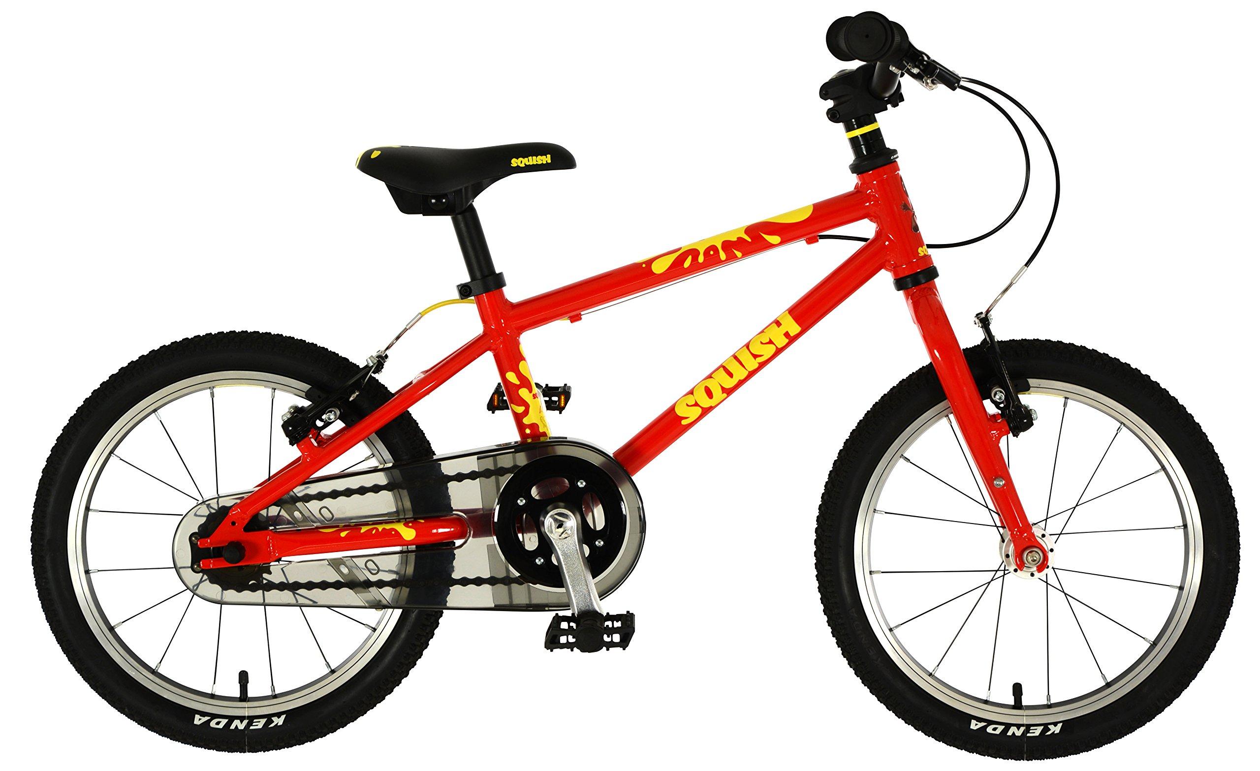 Squish - Bicicleta híbrida para niños (40,6 cm), Color Rojo ...