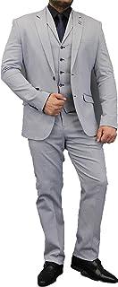 Cavani Mens 3 Piece Suits Blazers Trouser Waistcoats Patches Designer Jacket