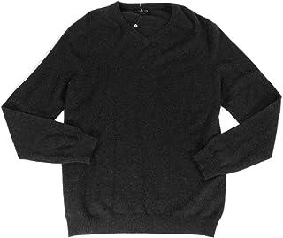 Mens Cashmere Ribbed Trim V-Neck Sweater