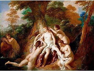 Doppelganger33 Ltd Painting Roman De Troy Diana Nymphs Bathing Large Canvas Art Print