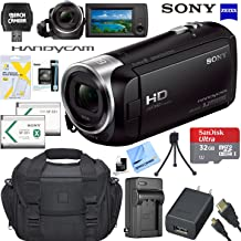 Sony HDRCX405 HD Video Recording Handycam Camcorder Bundle with 32GB Micro SD Memory Card Mini Tripod Travel Case Spare Battery Charger HDMI Cable and More