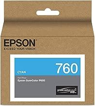 Epson T760220 T760220 (760) UltraChrome HD Ink Cyan