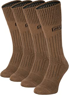 281Z Military Lightweight Boot Socks - Tactical Trekking Hiking - Outdoor Athletic Sport (Coyote Brown)