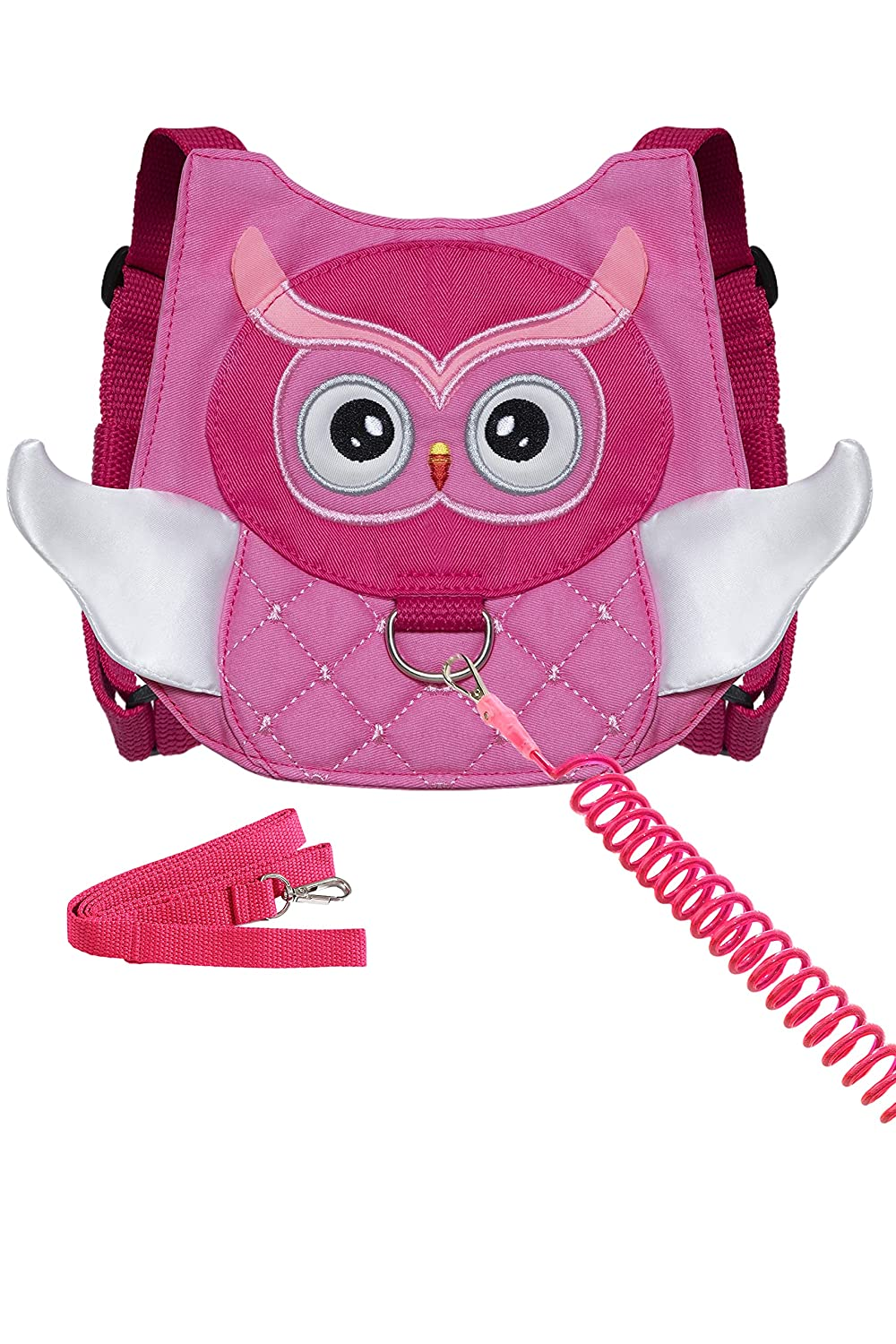 Owl Toddler Harness with Leash Child Anti-Lost Wrist Link Leash Kid Wristband (Rose)