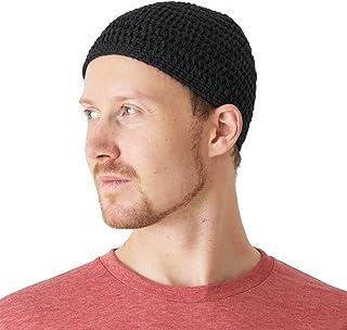 bf655829171 CHARM Cotton Skull Cap for Men - Crochet Kufi Hat Mens Beanie Prayer Hat  Knit Soft