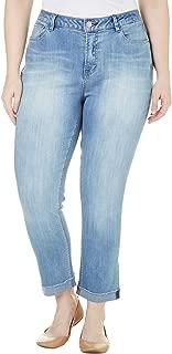 Women's Plus Frayed Cuff Jeans, Ellison