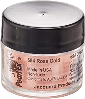 Jacquard Products JPX7694 Rose Pearl Ex Powdered Pigment, 3g, Gold
