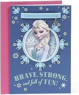 Hallmark Birthday Card for Girl (Elsa Frozen Charm Bracelet)