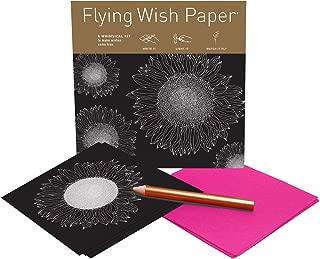 Flying Wish Paper - Write it., Light it, & Watch it Fly - SUNFLOWERS, Shining Star - 5