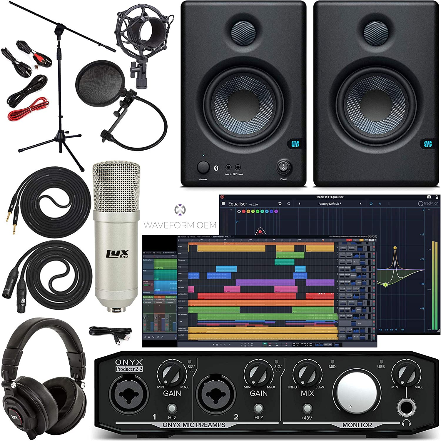 Mackie Onyx New products world's highest Trust quality popular Producer 2-2 Audio Midi Tools Pro interface Fir With