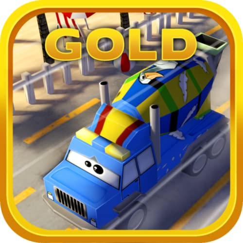 Little Mixer Truck in Action Gold: 3D Cartoonish Construction Driving Game for Kids