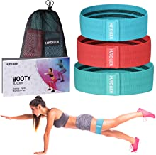 Hurdilen Resistance Bands Loop Exercise Bands Booty Bands,Workout Bands Hip Bands Wide Resistance Bands Hip Resistance Band for Legs and Butt,Activate Glutes and Thigh (Blue Red Green)